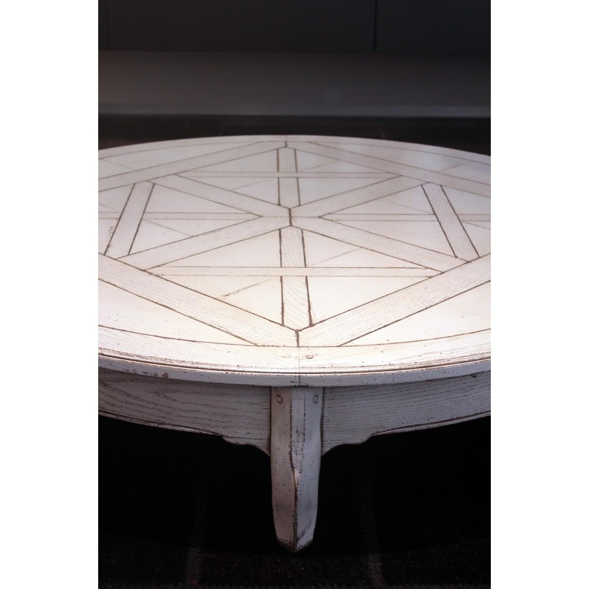 Tavolo basso laccato bianco anticato grande arredo outlet - Tavolo bianco anticato ...