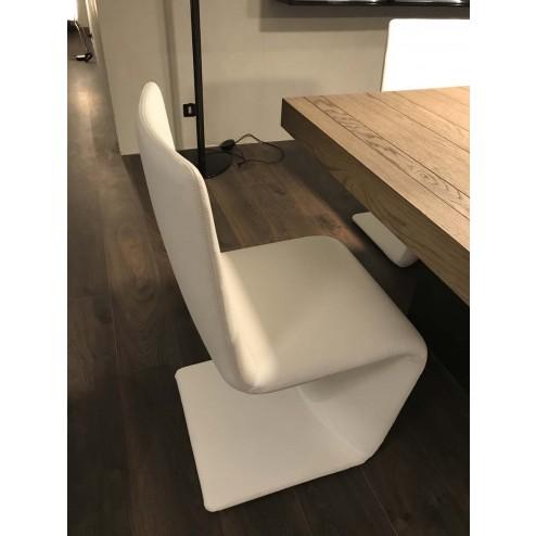 sedia Venere Bonaldo pelle Bianca