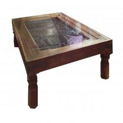 chelini legno foglia oro coffee table outlet