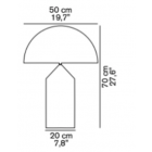 oluce atollo table lamp sizes